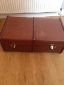 Large vintage trunk suitcase toy box - perfect storage