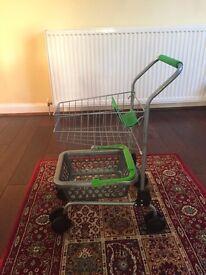 Waitrose Kids shopping trolley and basket