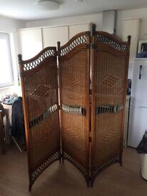 Lovely wicker room divider