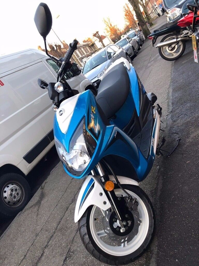 SYM Jet 4 R 50cc BLUE/WHITE *BRAND NEW!* MOPED/SCOOTER