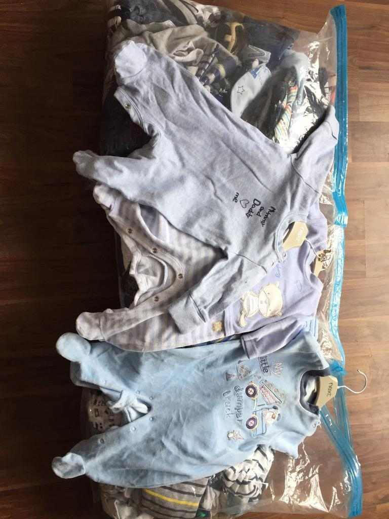 x3 Bags of Childrens Clothes (boyin Radcliffe, ManchesterGumtree - 1 bag newborn and 0 3 and 2 bags 3 6 all excellent condition mostly from Next. 50 items in each bag. From a smoke and pet free home
