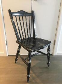 Black distressed chair