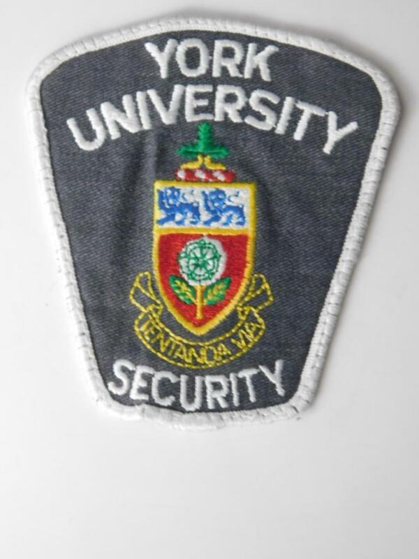 YORK UNIVERSITY TORONTO SECURITY OFFICER VINTAGE PATCH BADGE CANADA POLICE