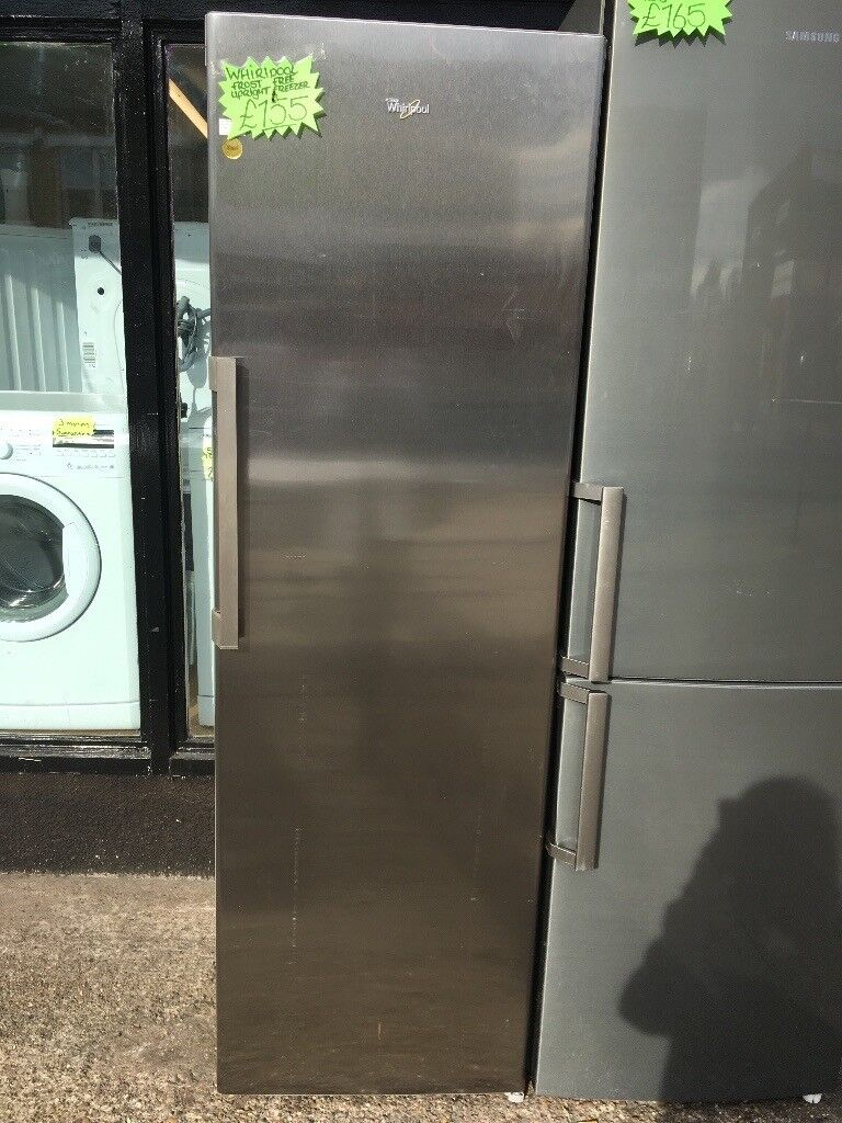 WHIRLPOOL FROST FREE UPRIGHT FREEZER IN STAINLESS STEEL