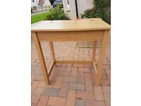 Nearly new small desk with folding top