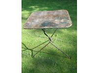 Antique Vintage French Metal Garden Table