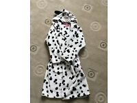 Girls Marks and Spencer Dalmatian dressing gown age 7-8 yrs