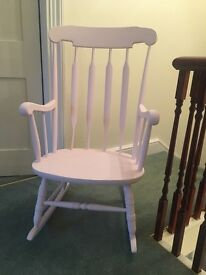 Pale Pink Rocking Chair Shabby Chic - Nursery, Kids Room, Cottage