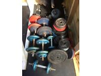 Weight Plates £1 per kg & Dumbells