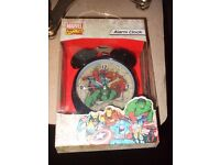 MARVEL COMICS ALARM CLOCK**BOXED AND UNUSED**ONLY £3