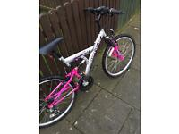 Women's suspension bike
