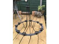 Black iron candle chandelier