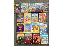 Children's dvd's, props pig, fireman Sam, Thomas, spot, Winnie the Pooh, etc.