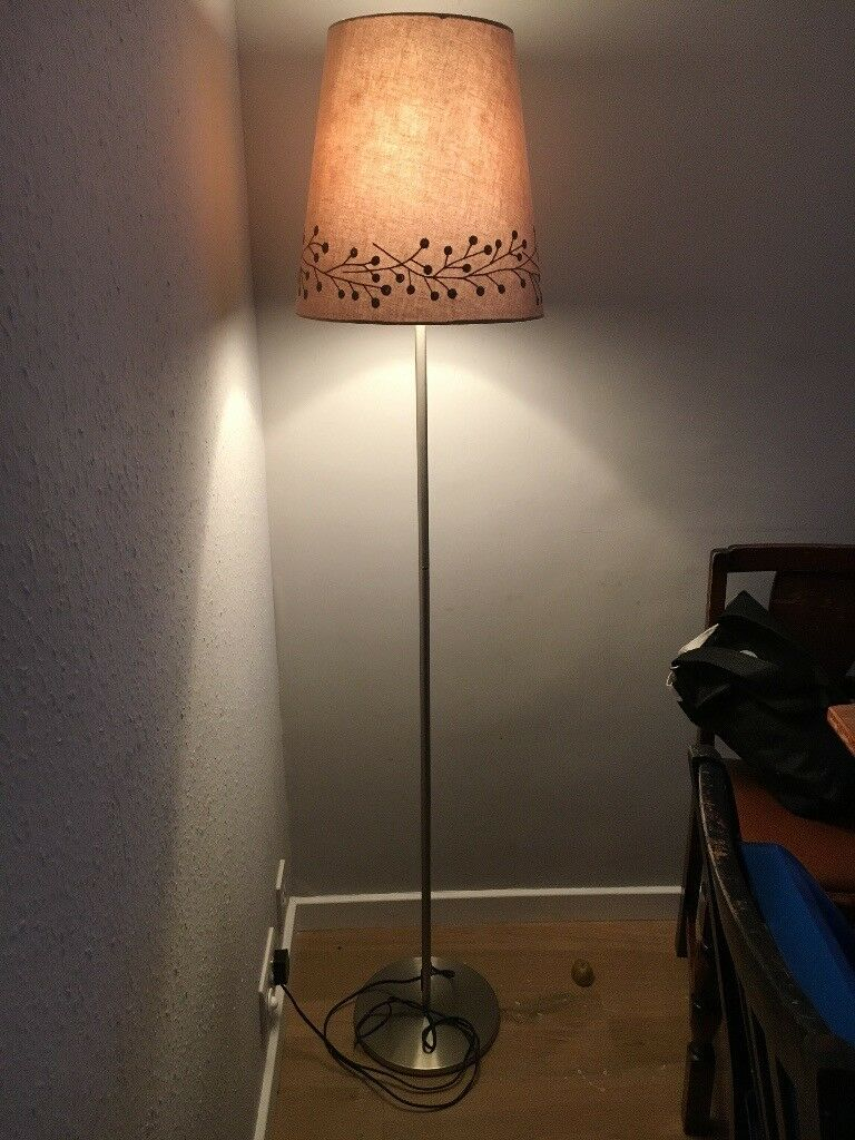 outlet store 8c1ee 7234b Ikea Rodd floor lamp - silver (nickel-plated) with shade | in Cambridge,  Cambridgeshire | Gumtree