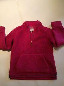 Girls 'Fat Face' Pink Fleece Age 8-9 years