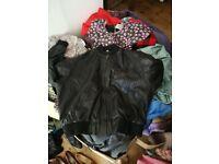 Vintage clothing job lot - 4 x big boxes retro clothing, bags shoes