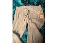 TRUE RELIGION LADIES JOGGING PANTS SIZE M- BRAND NEW- AUTHENTIC - NO OFFERS SET PRICE