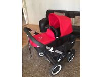Bugaboo Donkey Duo in red