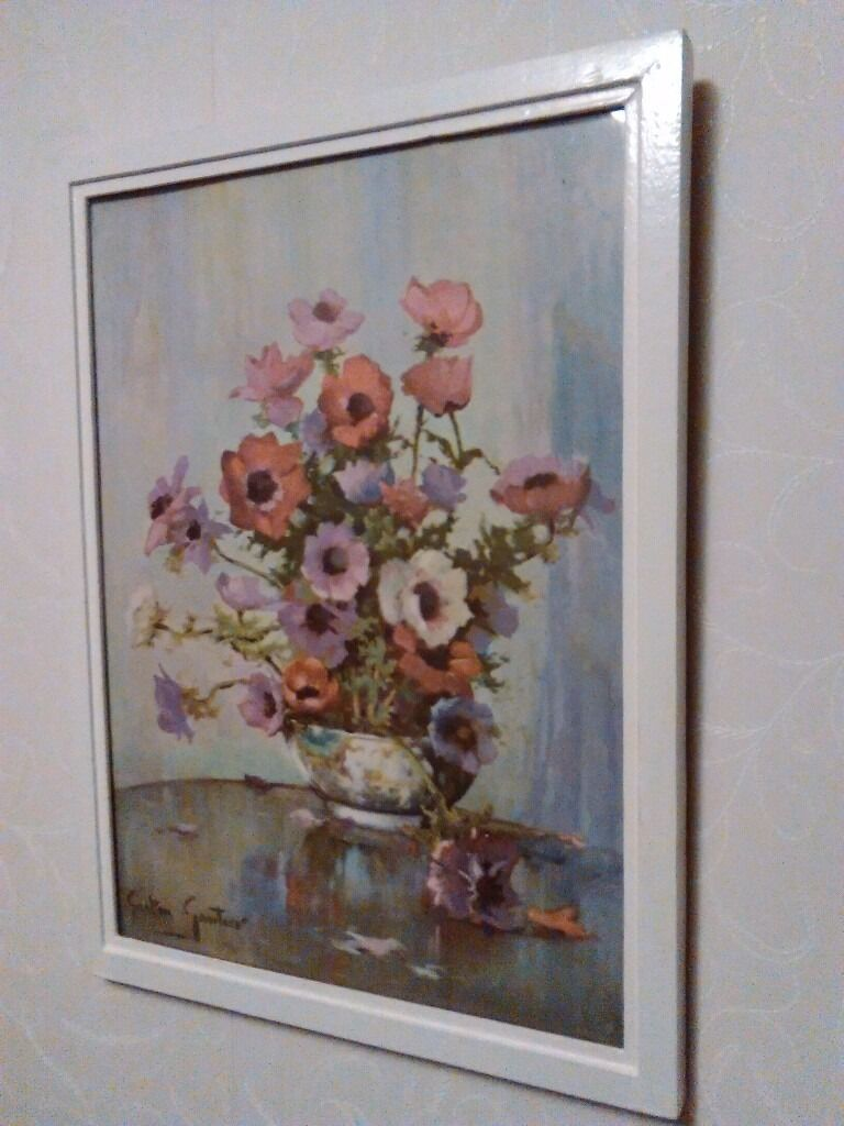 Floral, framed, print of painting by Gaston Gautier