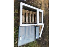 New UPVC White Double-glazed Window with 2 Panes (top opening)