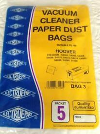 Pack of 5 vacuum cleaner paper bags
