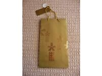 Gold Wine Bottle Gift Bag Holds 2 Bottles Birthday Wedding Anniversary Mothers Fathers Day etc