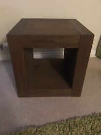 Dark Brown Cube side table from Next (delamere range)