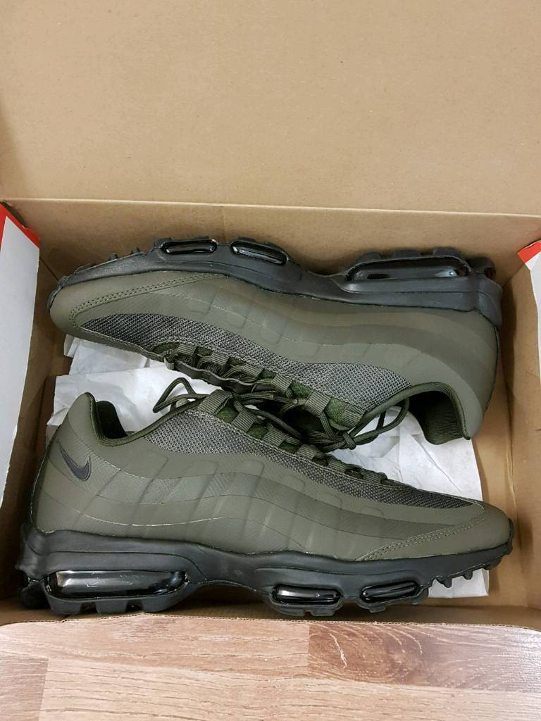 Nike Air Max 95 Ultra Essential Trainers in Cargo KhakiBlack with original box. | in London | Gumtree