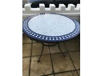 Round Mosaic outdoor dining table