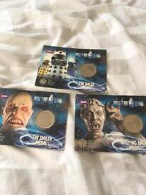 Doctor who collector medals from Royal mint.