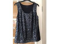 Brand NEW stunning Tommy Hilfiger sequinned vest top 💕 size 10 summer holiday
