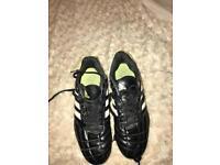 Boys size 6 football boots addidas