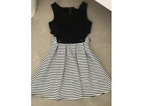 Black and white dress size small/medium