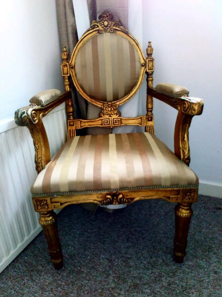 Beautiful gold chair for sale