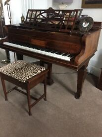 Baby/Boudoir Grand Piano by John Brinsmead & Sons, London & Stool. Good quality and regularly tuned.