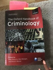 The Oxford Handbook of Criminology textbook
