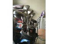 Golf clubs, bag, balls etc
