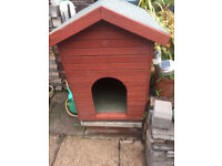 large dog kennel- solid wood with felt roof