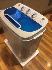 Twin tub space saver washing machine and spin