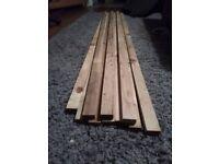 10 x 1.8 meter lengths of 19mm x 38mm wood timber garden
