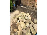 Buff Sandstone- ideal for walling or rockery stones.