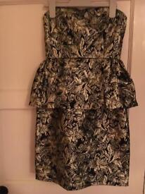 MATALAN black gold dress NEW 8 party river topshop zara