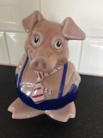 Natwest pig collectors item with stopper winston