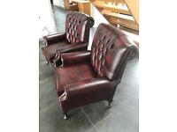 Chesterfield LeAther chairs x2