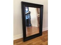 Wall Mirror Dark Wood Frame 80cm x 60cm
