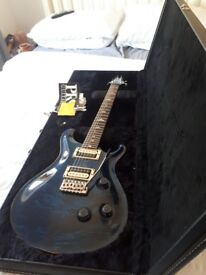 PRS 2007 electric guitar whale blue with bird inlays some small chips as pictured