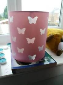 Girls butterfly light shade