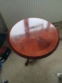 Mahogany lamp table