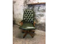 Forest Green Chesterfield Office Chair