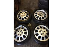 GENUINE MERCEDES BENZ A CLASS SET OF ALLOY WHEELS AND TYRES